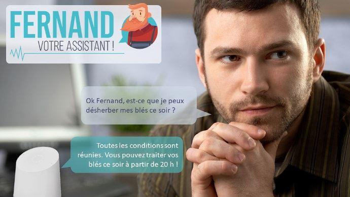 Outil numérique Fernand l'assistant, un assistant vocal pour les agriculteurs