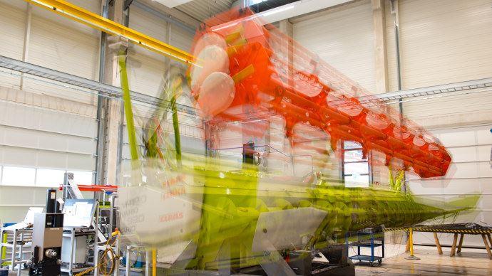 Claas test Center, tester des barres de coupes jusqu'à 12 mètres