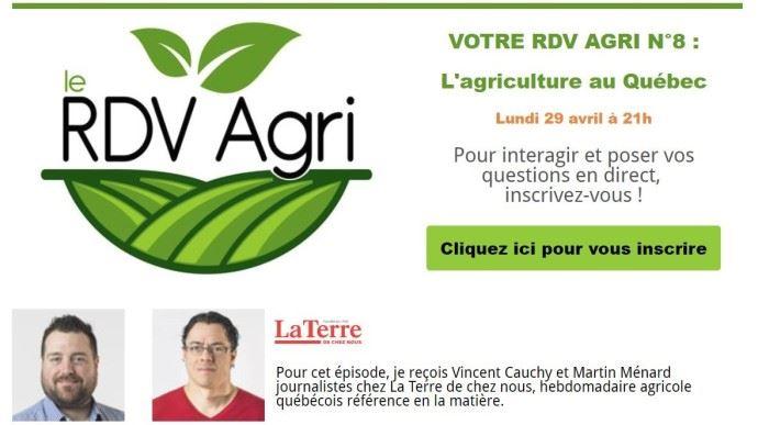 RDV agri du 29 avril 2019