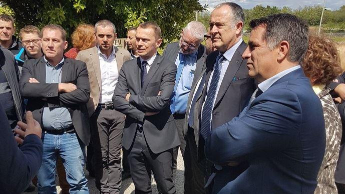 Le ministre de l'agriculture était en déplacement dans la Drôme et en Ardèche vendredi 26 avril 2019.