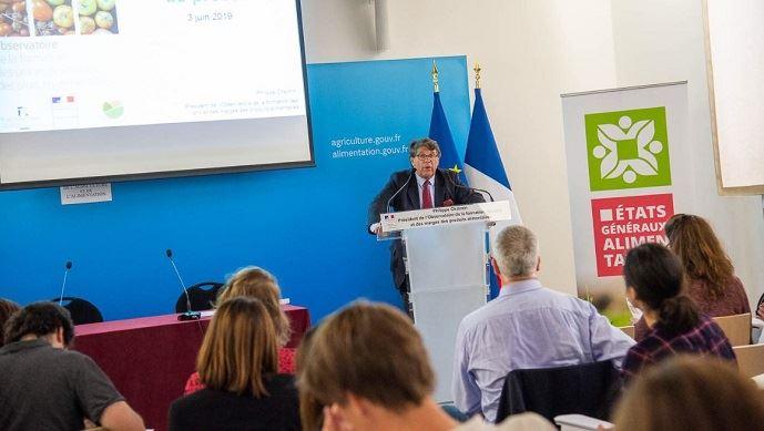 Philippe Chalmain, président de l'observatoire de la formation des prix et des marges, a présenté son rapport 2018 lundi 3 juin 2019.