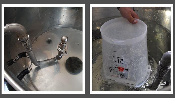 Le système FlushMaster s'intègre à un taxi-lait déjà existant et permet de nettoyer les seaux comme le réservoir.