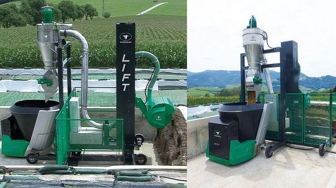 Wasserbauer présente Lift: un système de désilage automatisé qui permet au robot d'alimentation d'aller se servir seul au silo couloir.