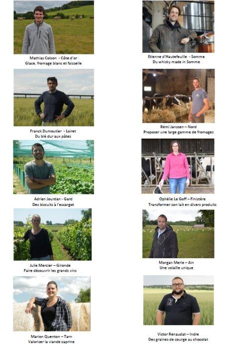 les dix finalistes du concours graines d agriculteurs 2019