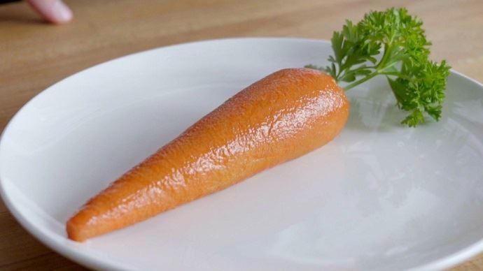 Ceci est une Marrot: la première carotte carnée, lancée par Arby's un fast-food américain.