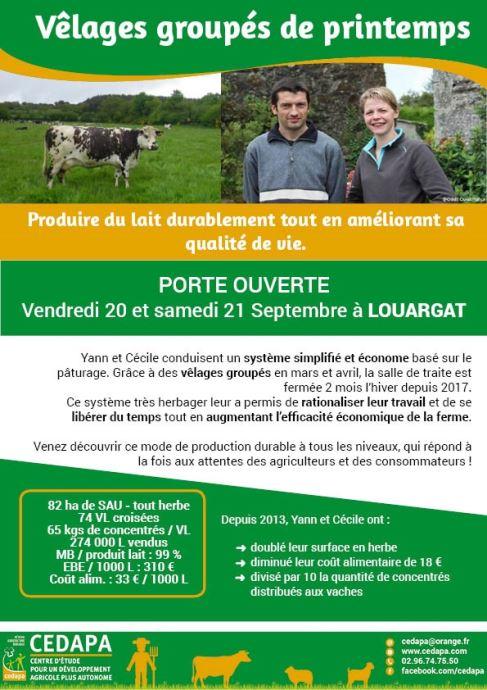 Porte ouverte d'un élevage des Côtes d'Armor en vêlages groupés et 100% herbe.