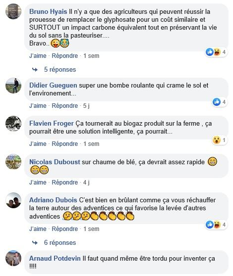 posts facebook desherbage thermique page terre net