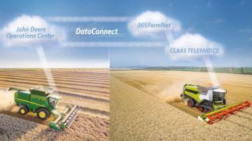 L'interface unique qui relie le parc matériel John Deere et Claas