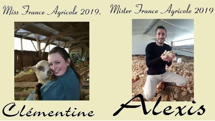 Clémentine et Alexis, Miss et Mister France agricole 2019