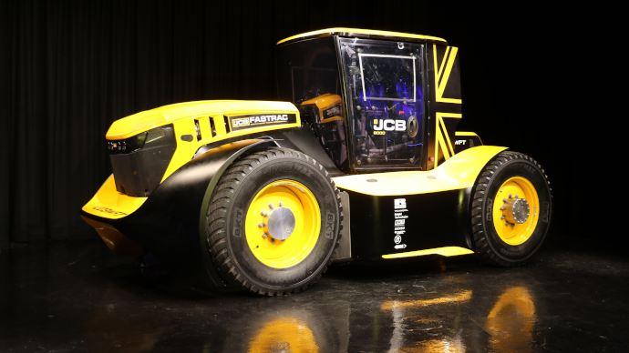 Tracteur JCB Fastrac le plus rapide du monde