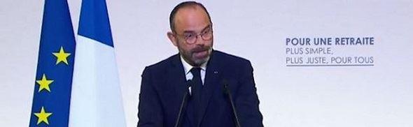 Edouard Philippe, présentant les détails de la réforme le 11 décembre 2019.