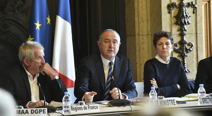 Didier Guillaume, ministre de l'agriculture, ici lors du lancement d'une concertation sur la future Pac le 11 octobre dernier.