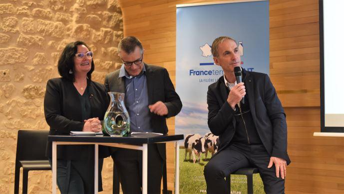 Lancement de France Terre de Lait, avec Marie-Thérèse Bonneau, Damien Lacombe, Thierry Roquefeuil