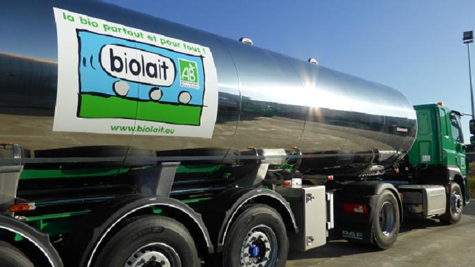 Camion collecte de lait Biolait