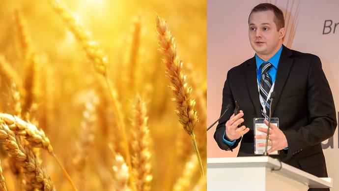Isaac Hankes parlant du réchauffement climatique au Paris Grain Day 2020