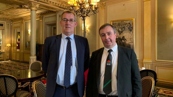 Jean-Pierre Bonnet, à gauche, et Jean-Marc Escure, à droite