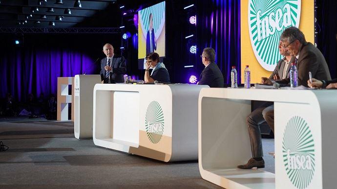 Didier Guillaume lors du congrès annuel de la FNSEA en 2019.