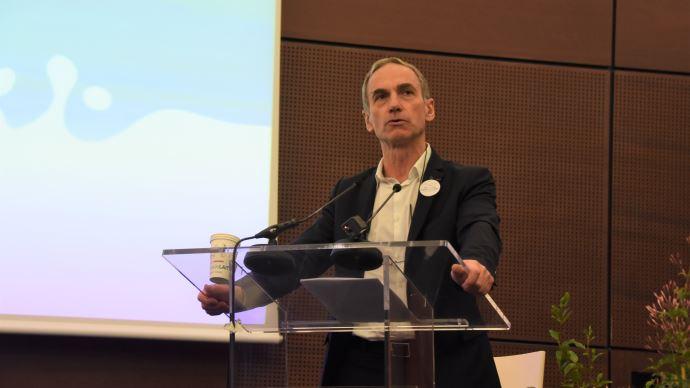 Thierry Roquefeuil, président de la FNPL, conclut le congrès de l'organisation le 12 mars 2020, à Cherbourg