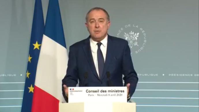 Le ministre de l'agriculture s'est félicité le 8 avril du bon fonctionnement de la chaîne alimentaire française