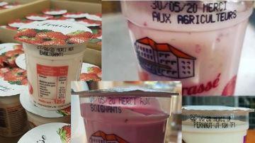 Des yaourts pour dire «merci» aux soignants, agriculteurs, gendarmes...