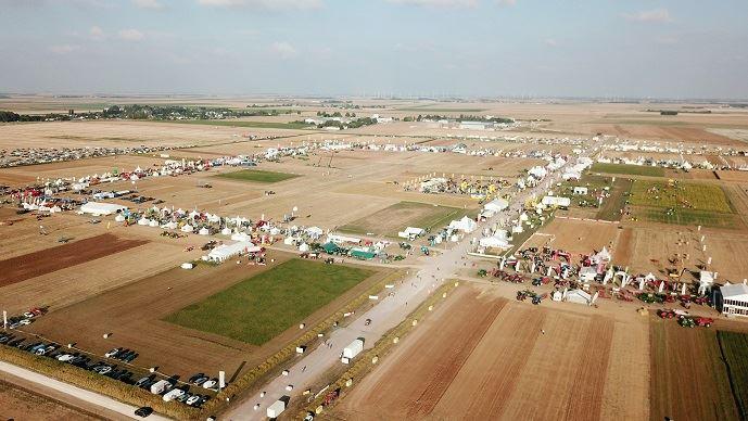 Le site d'Innov-agri, à Outarville, lors de l'édition 2018.