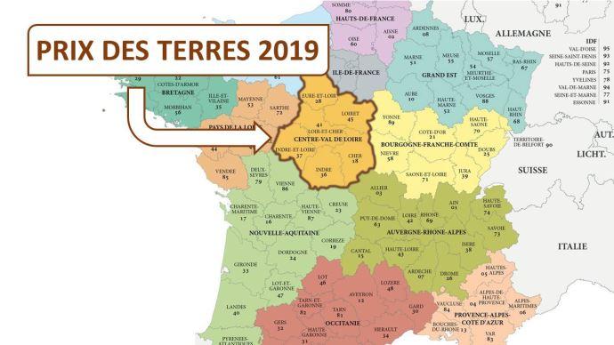En Centre Val de Loire, le prix de l'hectare libre atteint 6100€ en moyenne en 2019