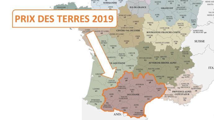 En Occitanie, le prix moyen des terres libres en 2019 a atteint 7040€/ha.
