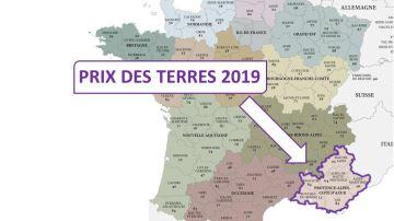 Les prix 2019 des terres agricoles en Provence-Alpes-Côte d'Azur