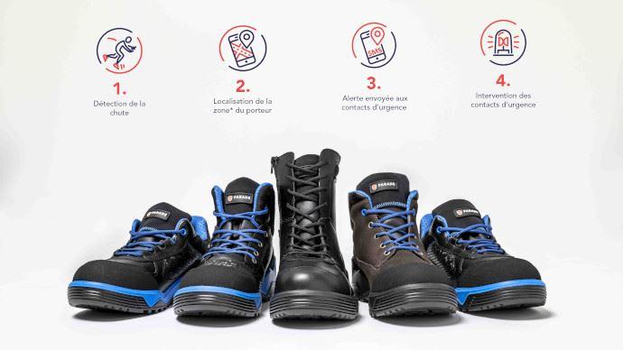 Chaussures de sécurité connectées Parade Connect