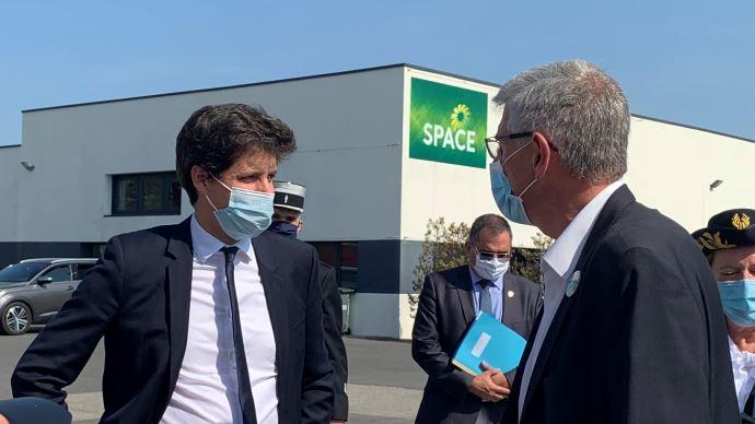 Le ministre de l'agriculture, Julien Denormandie, s'est rendu au Space le 16 septembre, dans un contexte difficile pour les salons agricoles.