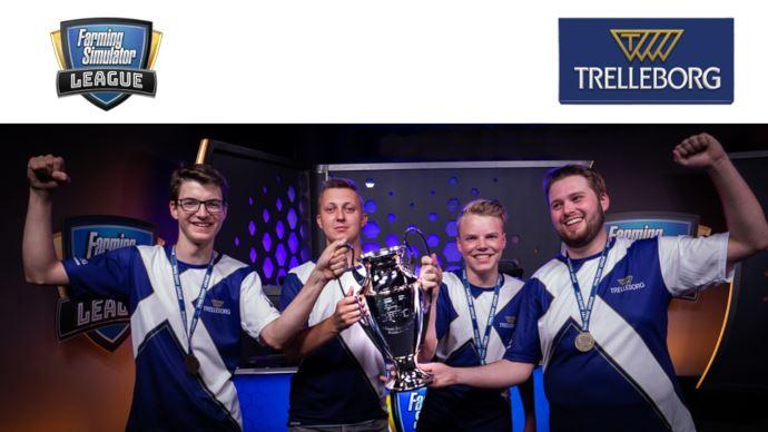Equipe Trelleborg au championnat Farming Simulator