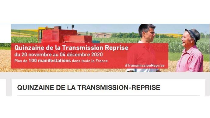 Quinzaine transmission reprise 2020 en agriculture