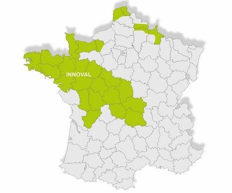 Territoire couvert par Innoval