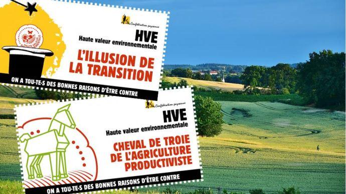 La Confédération paysanne dénonce les incohérences de la certification HVE et appelle à retirer l'amendement instaurant un crédit d'impôt HVE dans le PLF 2021