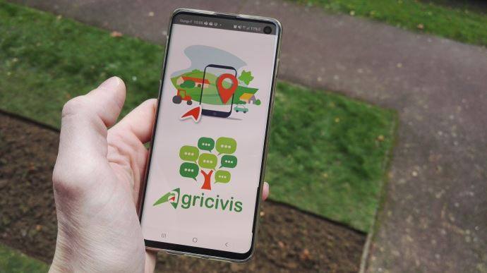 L'appli Agricivis développée à la demande de la chambre d'agriculture de Saône-et-Loire est disponible sur le PlayStore Androïd et sur l'AppleStore.et Appe