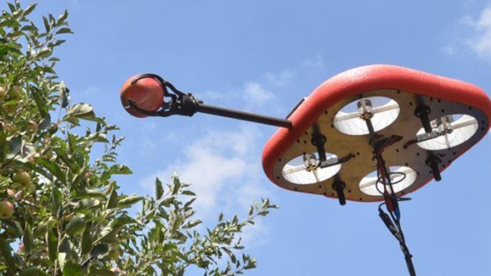 Robot volant pour cueillir les fruits