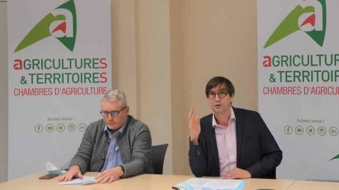 Christophe Hillairet et Sébastien Windsor ont présenté le 6 janvier les axes d'action de l'APCA pour 2021, notamment l'accompagnement des agriculteurs dans le cadre du plan de relance.
