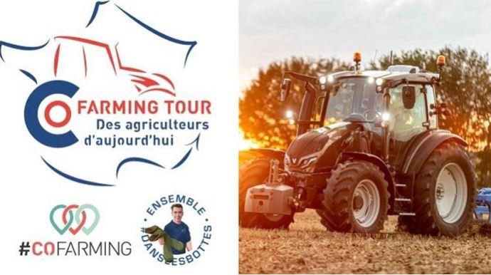 À bord d'un tracteur Valtra G135 Versu, Thierry Bailliet va sillonner les quatre coins de France pendant cinq semaines pour notamment inciter ses homologues agriculteurs à communiquer sur leur métier auprès du grand public.