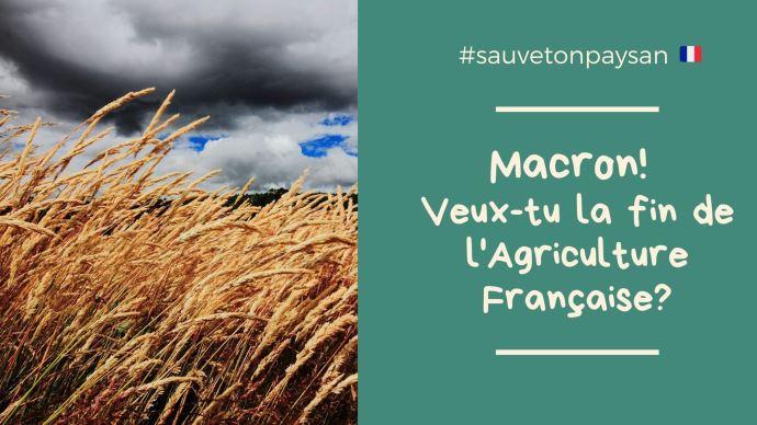 Les agriculteurs du grand bassin parisien manifestent et interpellent Emmanuel Macron sur l'avenir de l'agriculture française