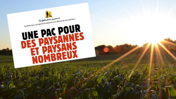 La Confédération paysanne regrette que ni le ministre, ni les autres syndicats n'évoque les enjeux sociaux du plan stratégique national de la future Pac.