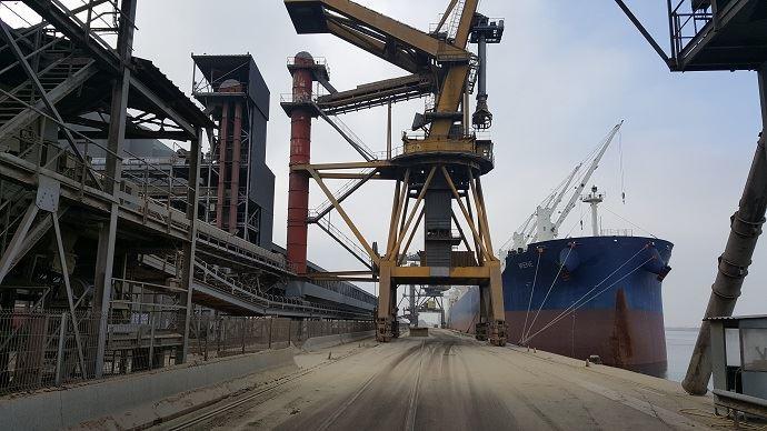 silos portuaires de cereales