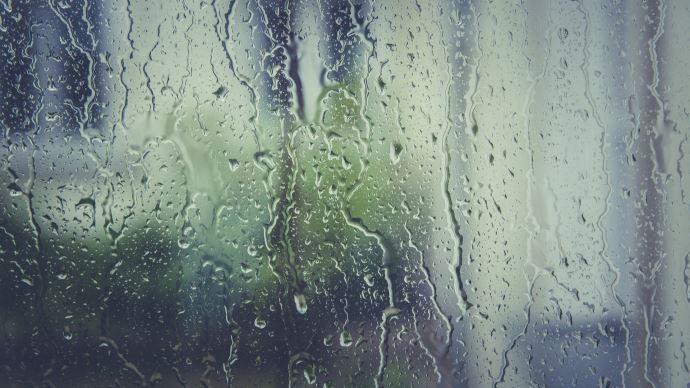 Pluie sur vitre