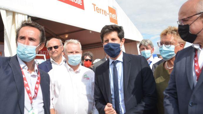 La visite de Julien Denormandie intervenait dix jours après le lancement de «l'Agri FrenchTech».