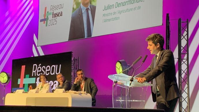 Julien Denormandie lors du 75è congrès de la FNSEA, le 23 septembre, à Niort.