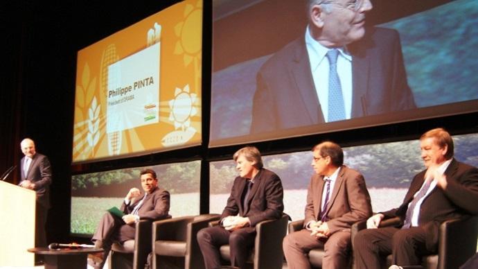 Philippe Pinta, président de l'Agpb au Sommet du Végétal à Evreux en février dernier.