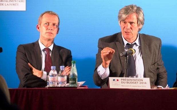 Stéphane Le Foll et Guillaume Garot, ministres de l'Agriculture et de l'Agroclimentaire.