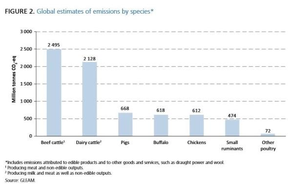 rapport FAO impact de l'élevage sur le changement climatique
