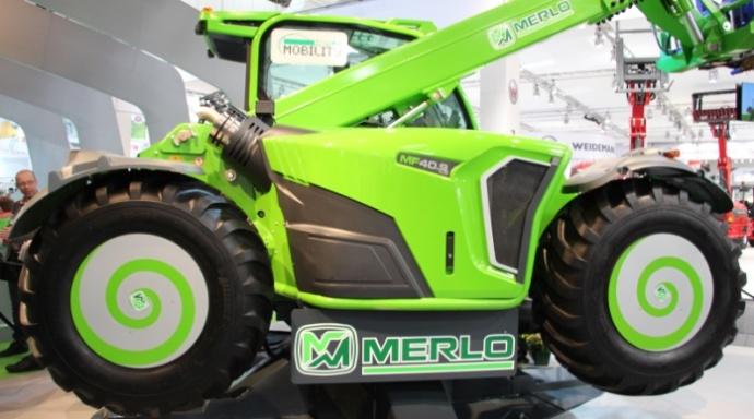 Le Merlo Multifarmer peut disposer de la nouvelle transmission à variation continue développée en interne.