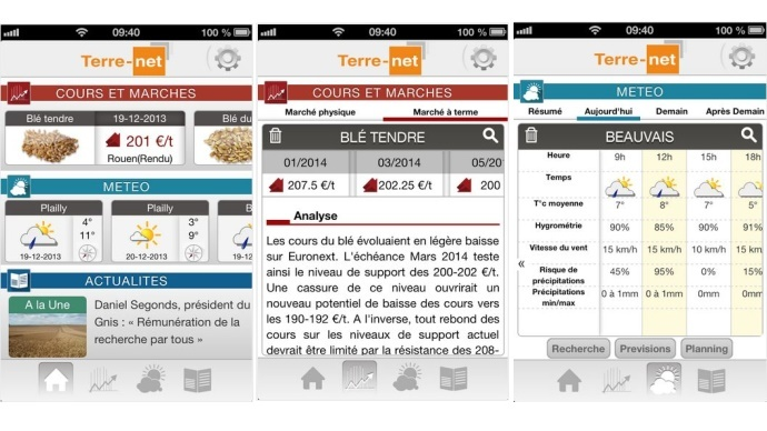 Application mobile Terre-net